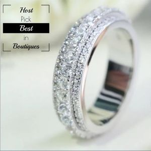Gold Filled CZ White Sapphire Eternity Ring
